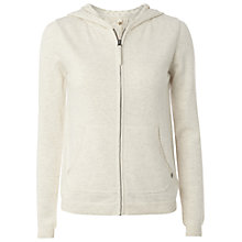Buy White Stuff Tally Ho Zip Hoodie, Almond White Online at johnlewis.com