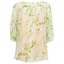 Buy Wishbone Maddie Glass Frill Silk Blouse, Multi Online at johnlewis.com