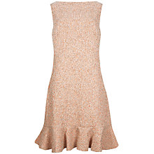 Buy Ted Baker Boucle Frill Hem Tunic Dress, Orange Online at johnlewis.com