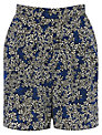 Warehouse Blossom Print Shorts, Bright Blue