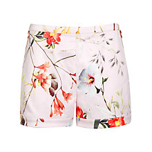 Buy Ted Baker Botanical Bloom Print Shorts, Pale Pink Online at johnlewis.com