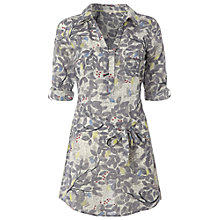 Buy White Stuff Clustered Leaves Tunic Top, Moonlight Online at johnlewis.com
