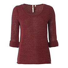 Buy White Stuff Summer Plain Knit Jumper, Red Plum Online at johnlewis.com