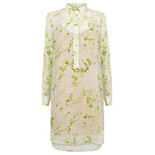 Buy Wishbone Bridget Glass Floral Silk Shirt Dress, Multi Online at johnlewis.com