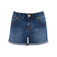 Buy Oasis Authentic Wash Boyfriend Shorts, Denim Online at johnlewis.com