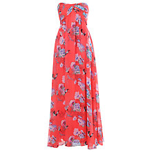 Buy True Decadence Print Ruch Maxi Dress, Red Online at johnlewis.com