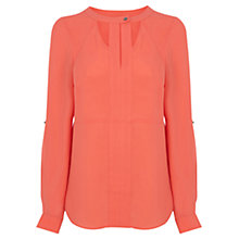 Buy Warehouse Cut Out Neck Blouse Online at johnlewis.com