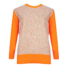 Buy Ted Baker Textured Front Jumper, Orange Online at johnlewis.com