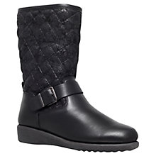 Buy Carvela Comfort Rex Suede Biker Boots, Black Online at johnlewis.com