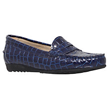 Buy Carvela Cassie Leather Croc Print Loafers Online at johnlewis.com