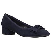 Buy Carvela Comfort Suede Block Heeled Ballerina Pumps Online at johnlewis.com