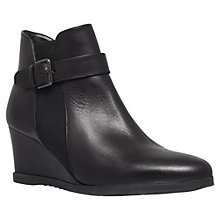 Buy Carvela Ruth Leather Wedge Heel Buckle Trim Shoe Boots Online at johnlewis.com