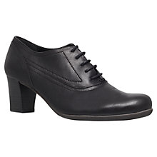 Buy Carvela Comfort Andrea Leather Mid Heel Lace Up Court Shoes, Black Online at johnlewis.com