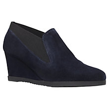 Buy Carvela Comfort Alpha Wedge Boots, Navy Online at johnlewis.com