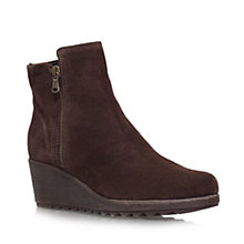 Buy Carvela Comfort Rusty Suede Wedge Heel Ankle Boots Online at johnlewis.com