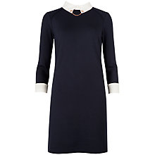 Buy Ted Baker Wubty Contrast Collar Dress, Navy Online at johnlewis.com