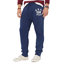 Buy Polo Ralph Lauren Jersey Jogger Trousers, Navy Online at johnlewis.com