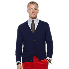 Buy Polo Ralph Lauren Loryelle Merino Wool Cardigan, Hunter Navy Online at johnlewis.com