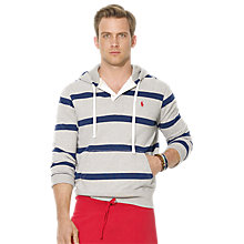 Buy Polo Ralph Lauren Striped Rugby Hooded Top Online at johnlewis.com