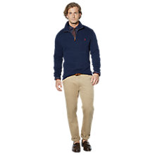 Buy Polo Ralph Lauren Zip Neck Jumper Online at johnlewis.com