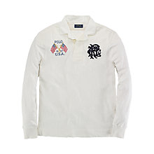 Buy Polo Ralph Lauren Polo  Jersey Top, Deckwash White Online at johnlewis.com