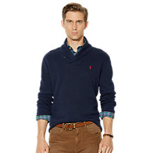 Buy Polo Ralph Lauren Jersey Shawl Neck Pullover, Hunter Navy Online at johnlewis.com