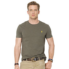 Buy Polo Ralph Lauren T-Shirt, Olive Marl Online at johnlewis.com