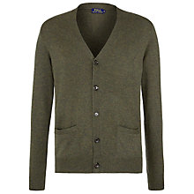 Buy Polo Ralph Lauren Loryelle Merino Wool Cardigan, Olive Sage Heather Online at johnlewis.com