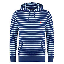Buy Polo Ralph Lauren Hooded Stripe Jersey, Navy Online at johnlewis.com