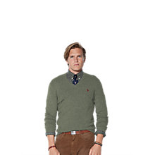 Buy Polo Ralph Lauren Loryelle Merino Wool V-Neck Jumper Online at johnlewis.com