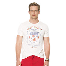 Buy Polo Ralph Lauren American Crest T-Shirt, White Online at johnlewis.com