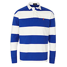 Buy Polo Ralph Lauren Rugby Shirt, White/Blue Online at johnlewis.com