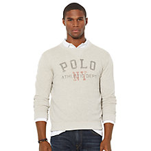 Buy Polo Ralph Lauren Polo NY Fleece Sweatshirt, Pointer Grey Online at johnlewis.com
