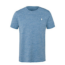 Buy Polo Ralph Lauren Plain Crew Neck T-Shirt, Delta Blue Online at johnlewis.com