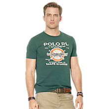 Buy Polo Ralph Lauren Sporting Goods Crew Neck T-Shirt, Boxwood Green Online at johnlewis.com
