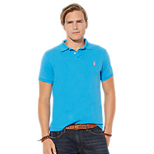 Buy Polo Ralph Lauren Polo Shirt, Sea Turquoise Online at johnlewis.com