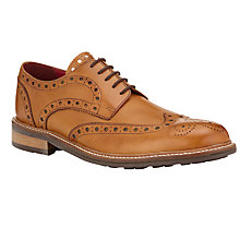 Buy JOHN LEWIS & Co. Durham Leather Brogue Shoes, Light Tan Online at johnlewis.com