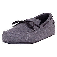 Buy Totes Check Moccasin Slippers, Brown Online at johnlewis.com
