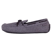 Buy Totes Check Moccasin Slippers, Grey Online at johnlewis.com