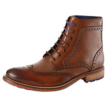 Buy Ted Baker Sealls Brogue Boot, Tan Online at johnlewis.com