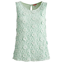 Buy Joules Hetty Lace Top, Green Online at johnlewis.com
