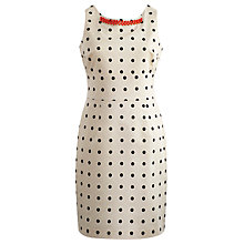 Buy Joules Natasha Polka Dot Dress, White Online at johnlewis.com