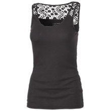 Buy Fat Face Lace Back Vest, Black Online at johnlewis.com