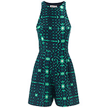 Buy Whistles Kaleidoscope Print Playsuit, Green Multi Online at johnlewis.com