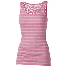 Buy Fat Face Lace Back Ditsy Stripe Vest Top Online at johnlewis.com