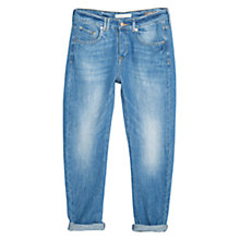 Buy Mango Boyfriend Angie Jeans, Medium Blue Online at johnlewis.com