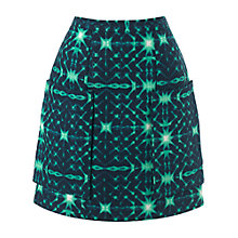 Buy Whistles Kaleidoscope Print Pocket Skirt, Green Multi Online at johnlewis.com