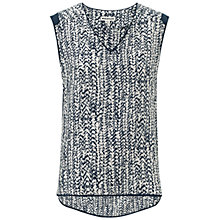 Buy Whistles Braid Print Top, Navy Online at johnlewis.com