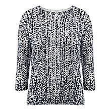 Buy Whistles Printed Button Back Boxy Top, Multi Online at johnlewis.com