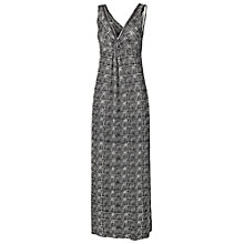 Buy Fat Face Makita Graphic Aztec Maxi Dress, Phantom Online at johnlewis.com